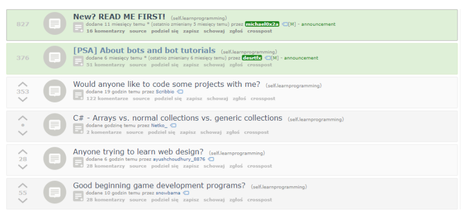 PrintScreen from r/learningprogramming